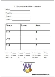 Free Tournament Planner Templates Leadership And Sport